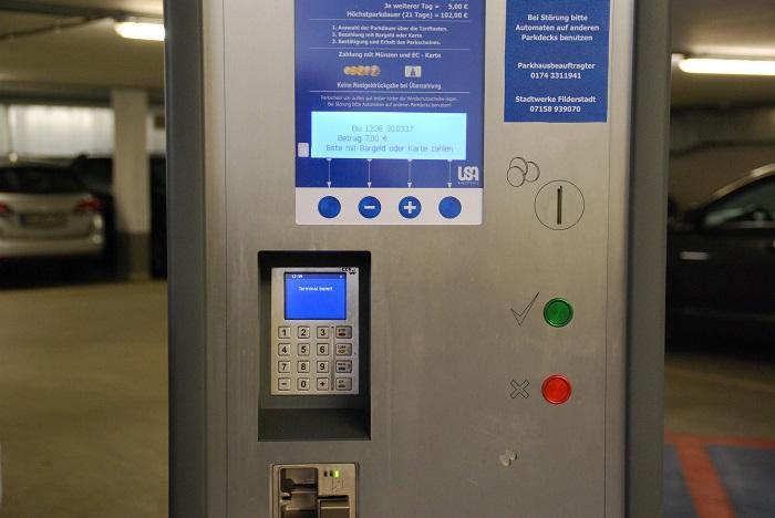 Parkscheinautomat Nahaufnahme