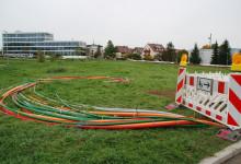 Glasfaserausbau im Gewerbegebiet Bernhausen