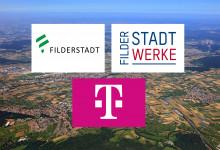 Kooperation zwischen Telekom und Filderstadtwerke bringt Glasfaser nach Filderstadt: Foto: Telekom/Filderstadtwerke