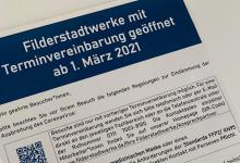 Die Filderstadtwerke sind mit Terminvereinbarung ab 1. März 2021 wieder geöffnet. Foto: Filderstadtwerke