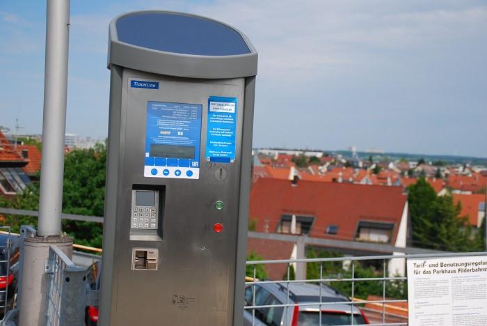 Parkscheinautomat mit Aussicht
