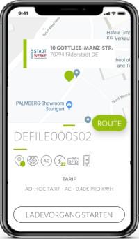 ladeApp auf dem Smartphone
