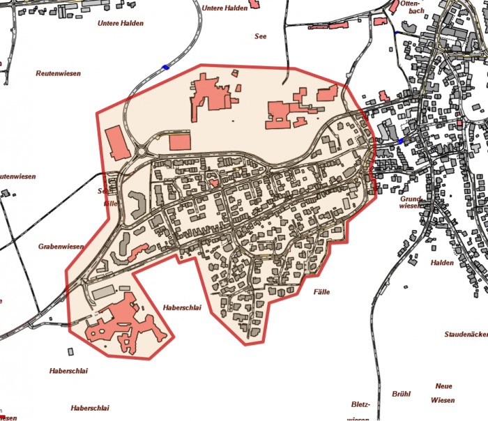 Ausbaugebiet Bonlanden Süd-West